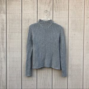 The Limited timberwolf gray funnel neck sweater